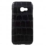 Samsung Galaxy A5 (2017) Hoesje - Harde Back Snap Case - Krokodil Leer Design Zwart