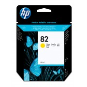 HP No 82 Yellow Ink Cartridge Used in the DesignJet 500/800 printer series.