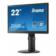 """Monitor iiyama B2280HS-B2, 22"""", LED, 1920x1080, 5M:1, 5ms, 250cd, D-SUB, DVI, HDMI, repro, pivot"""