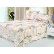 Cuvertură de pat single Valentini Bianco B810 Daisy