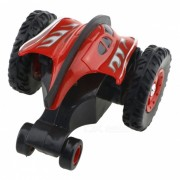 777-611 4 canales 2.4GHz Micro RC Stunt Car - Rojo