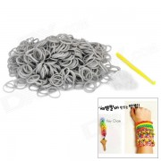 DIY Weaving Educacion silicona 600-Bands + S-pulsera de la hebilla para Ninos - Gray