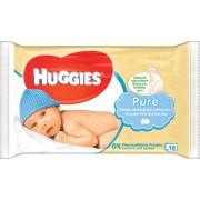 Huggies Pure feuchte Tücher Reisepack, 16 Stück