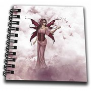 3dRose db_181701_3 A Pink Butterfly Fairy Plays with Butterflies In The Heaven Mini Notepad 4 x 4