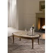 Firenze - ovális kisasztal fa felülettel