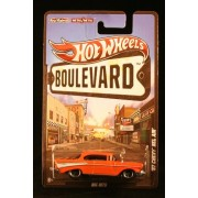 2012 Hot Wheels Boulevard Big Hits '57 CHEVY BEL AIR 1:64 Scale Diecast Real Riders by Hot Wheels