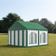 tendapro.it 4x4m Tendone per feste, PVC bianco-verde