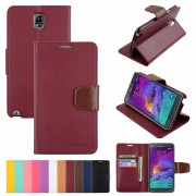 Korean Mercury Sonata Wallet Case for Samsung Galaxy Note 4 - Ruby