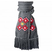 Mia Scarf (dark heather) wzór norweski