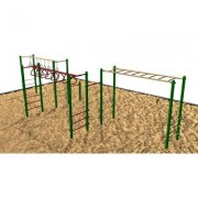 Kidstuff Playsystems, Inc. Fitness Center 5142 Color: Green, Tan and Brown