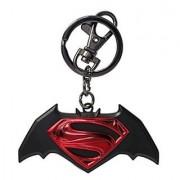 DC Batman Vs Superman Logo Pewter Key Chain
