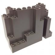 Lego Parts: Rock Panel Rectangular (BURP) (Old Dark Gray)