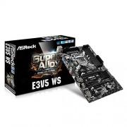 ASRock E3V5 WS Scheda Madre Intel 1151, Nero