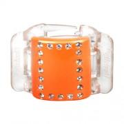 Linziclip Midi Hair Clip Gumičky do vlasov pro ženy Skřipec do vlasů Odtieň - Orange Crystal