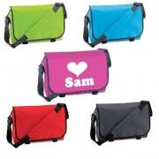 Messengerbag/Postman tas met naam bedrukt