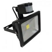 Proiector LED 20W cu Senzor Miscare Alb Rece 220V
