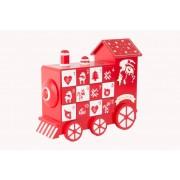 Tren calendario adviento Papa Noel con chocolates