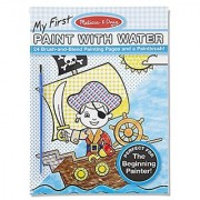 Melissa & Doug My First Paint with Water Kids Art Pad With Paintbrush - Pirates Space Construction and More