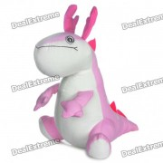 Cute Cartoon Dragon Style Doll Toy - Pink + White