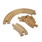 Wooden Train Track Set: 6 Curved Tracks (3.5 Each) - By Right Track Toys - 100% Compatible with All Major Brands includ