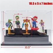 Tingacraft Acrylic Display 3 Steps Case/Box (9.8x4.7x6.2 Inches) Perspex Dustproof ShowCase For 1:24 1:25 Diecast Cars Amiibo Funko POP Figures by Tingacraft