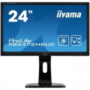 "Monitor VA LED iiyama 24"" XB2472HSUC-B1, Full HD (1920 x 1080), VGA, DVI, DisplayPort, Boxe, Camera Web, Pivot, 8 ms (Negru)"