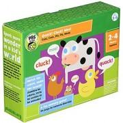 PBS 825452513997 Quack! Cluck! Moo! Board Game Green