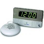 SONIC GREEN - Sveglia digitale con 2 allarmi e dispositivo esterno a vibrazione