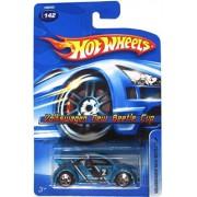 Mattel Hot Wheels 2005 1:64 Scale Teal Blue Volkswagen New beetle Cup Die Cast Car #142 by Mattel