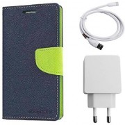 Poonam Green Mercury Goospery Fancy Diary Wallet Flip Cover With Wall Charger(USB Power Adapter and Dta Cable) For Asus Zenfone Go (5.0)