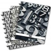 Caiet A4, 72 file - 90g/mp, coperta PP, AURORA Adoc Black collection - dictando