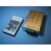 RF ovládač RGB pásika, kompaktný, s pamäťovým efektom