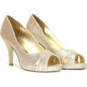 Steve Madden Women Gold Glitter Heels