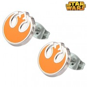 Star Wars Stainless Steel Rebel Alliance Stud Earrings