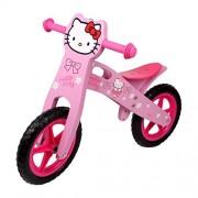 Small Foot Company 4739 - Bicicleta (madera y plástico, sillín en 3 posiciones, 82 x 39 x 56 cm), diseño de Hello Kitty