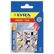 Креда маслена, жълта - PROFI 798 (12мм x 95мм), 12 бр./оп., 4880007, LYRA