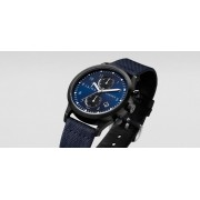 TRIWA Dusk Lansen Chrono Watch Navy/Black