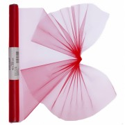 Rode organza op rol 40 x 200 cm