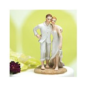 Beach Bride and Groom Cake Topper