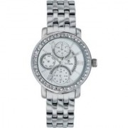 Titan Quartz Silver Round Women Watch 9743sm03