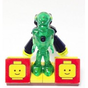 MinifigurePacks: Lego Mars Mission GLOW IN THE DARK - ALIEN & JETPACK with Lego Display Base