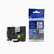 Brother TZ-FX111/TZe-FX111 6mm x 8m flexi černý tisk/průhl. podklad kompatibilní