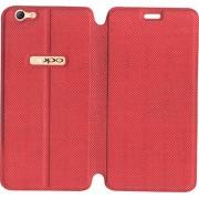 SBMS Premium Flip Cover For OPPO A57 (Red)