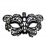 Black Cat Eye Glitter Masquerade Mask