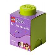 Room Copenhagen, RC40011742, Contenitore per mattoncini Lego Friends, 1 pomello, Verde
