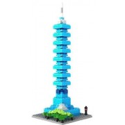 Loz Micro Blocks, Taipei 101 Model, Small Building Block Set, Nanoblock Compatible (390 pcs) by LOZ BLOCKS