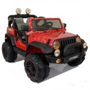 happy kids Auto Macchina Elettrica Jeep 12 V 2 Posti Per Bambini Maxi Fuoristrada Spider Web Rossa