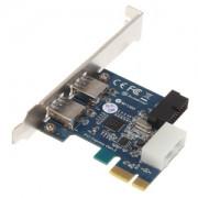 Adaptor Silverstone EC04-P Low Profile PCIe x1 (gen 2.0) - 4x USB 3.0 (2x externe / 2x interne), conector intern 19-pini