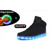 Svietiace topánky - Sneakers čierne