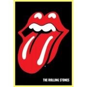 Poster Encadré: Rolling Stones - Langue, Logo (91x61 Cm), Cadre Plastique, Jaune